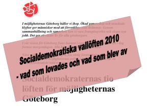 Socialdemokraternas vallöften 2010