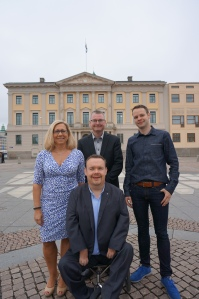 Jonas Ransgård, Helene Odenjung, David Lega och Rickard Nordin.